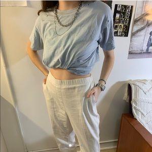 Pants - White flowy pants